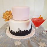 """Sex and the City""  cake available with different toppers from $250 (shoe,Cosmopolitan, necklace)"