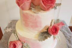 Buttercream pink roses cake from $500