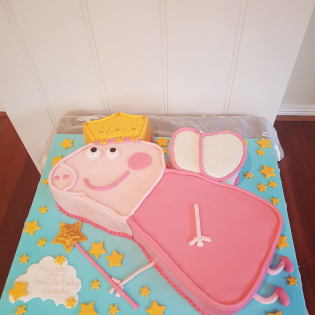 Peppa Pig 3D Fairy Princess cake from $190