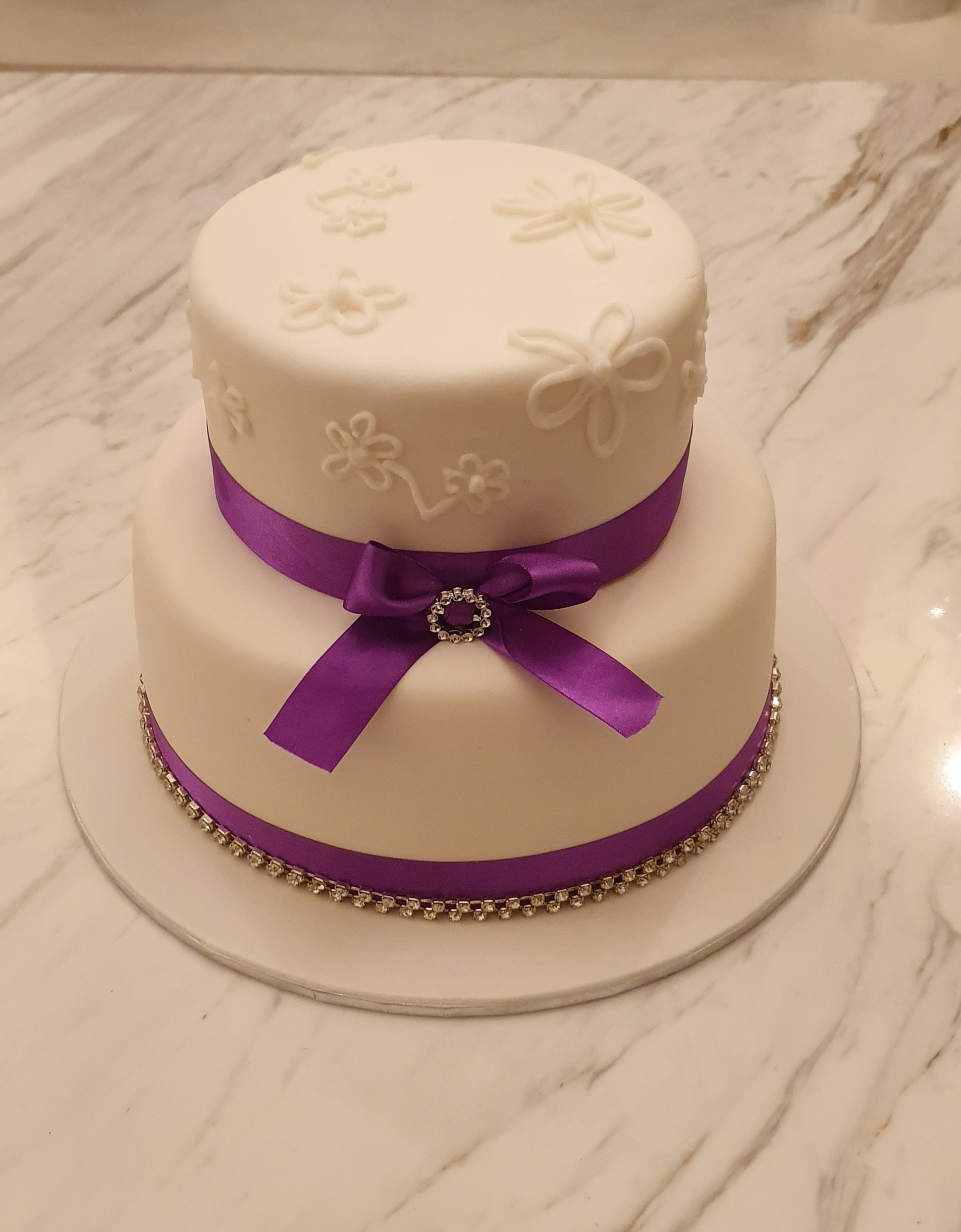 2 tier simple wedding cake from $490