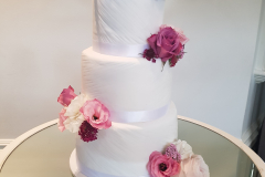 Ruched Fondant Wedding Cake From $750