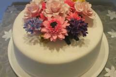 Floral one tier wedding cake from $380