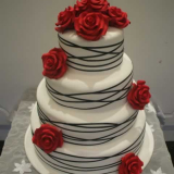 Black Ribbon Wrapped Cake From $650