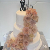Mauve Roses Wedding Cake From $550