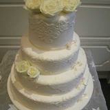 Vintage Lace and Roses Cake From $800